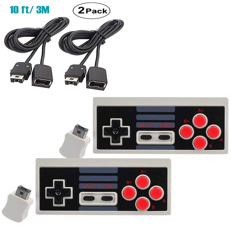 NES Classic Controller For Nintendo Mini Classic Edition - Wireless Bluetooth Remote Control For Retro Game System