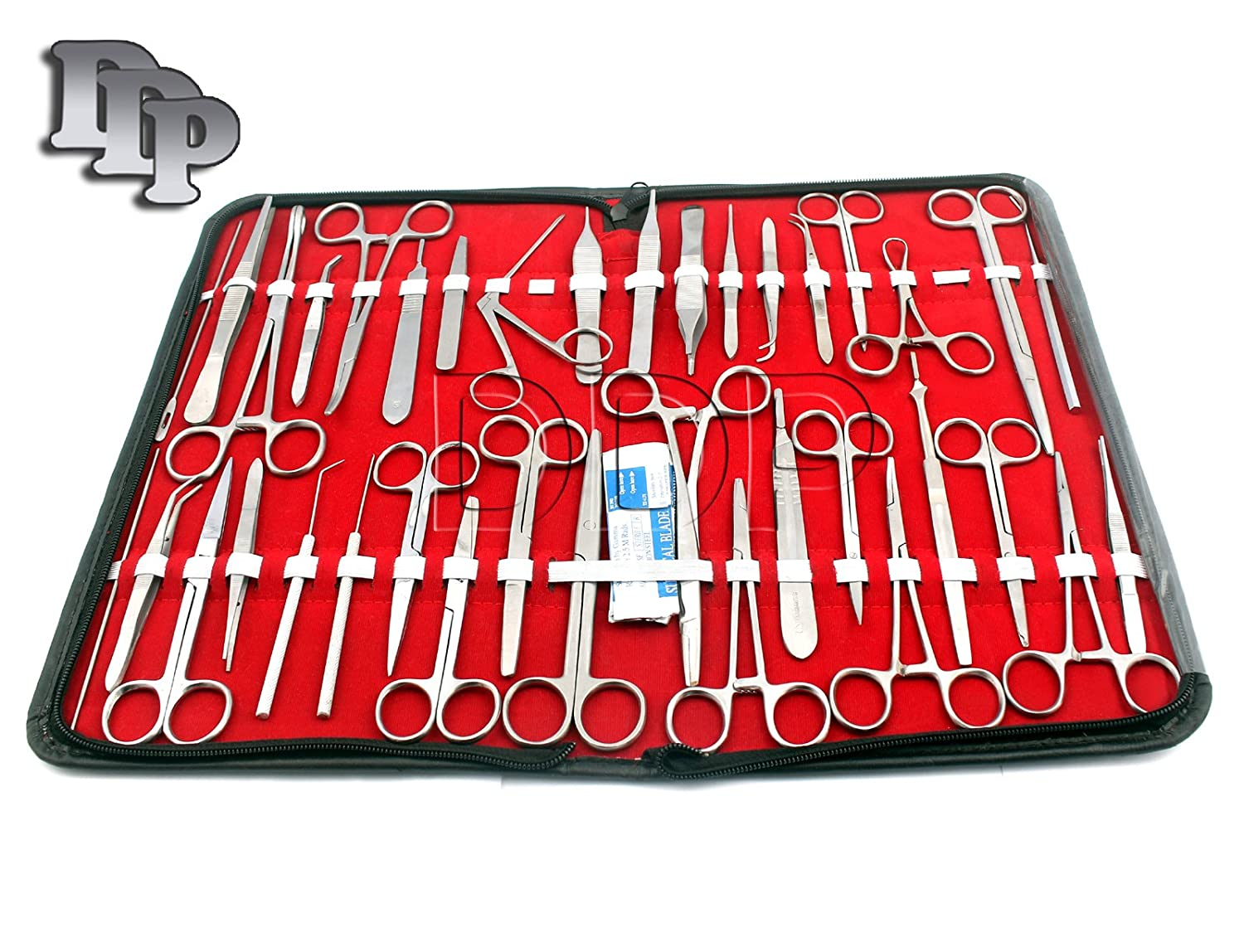 DDP 157 Pieces Instruments Kit Veterinary ! Scissors ! Forceps ! Needle Holder ! Scalpel Handel ! Stainless Steel (All in One)
