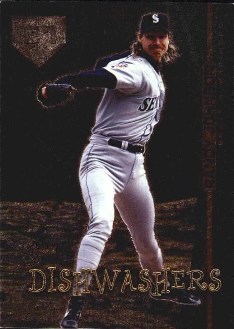 Fleer Randy Johnson (Baseball Card) 1998 Skybox Dugout Axcess - Dishwashers #D4 (Mint Condition)