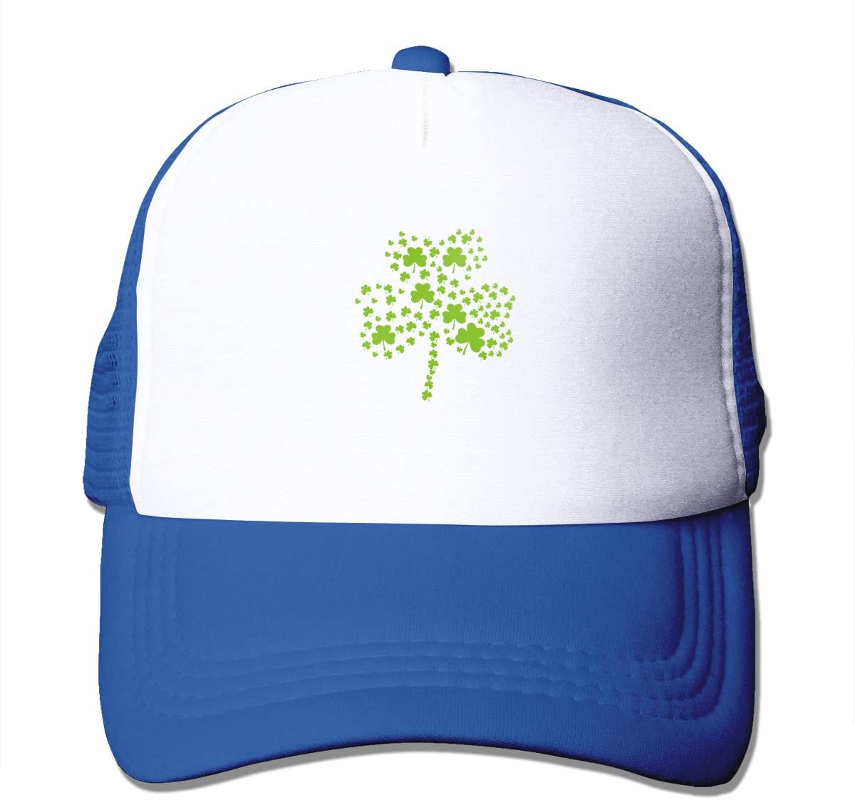 Adult Trucker Hat Irish Clover Custom Mesh Caps