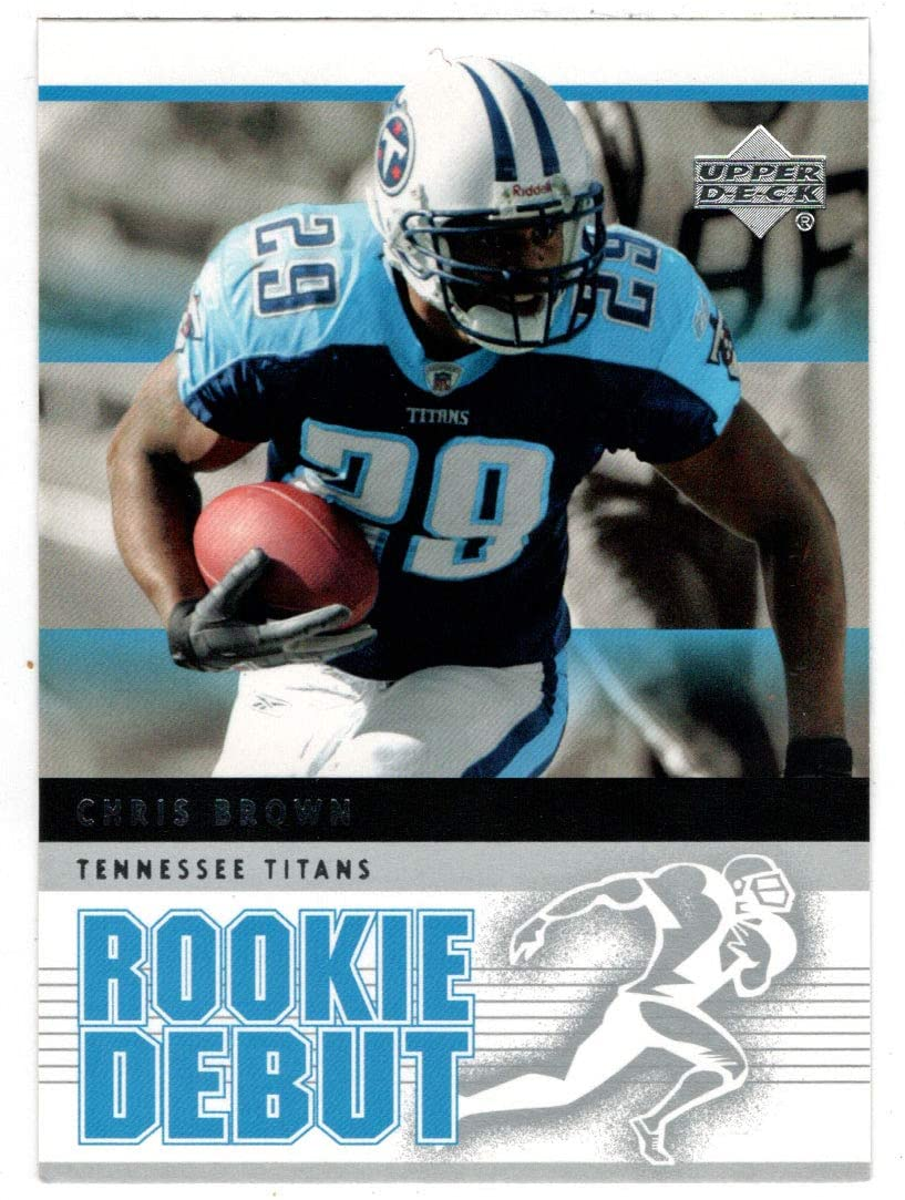 Chris Brown - Tennessee Titans (Football Card) 2005 Upper Deck Rookie Debut # 97 Mint