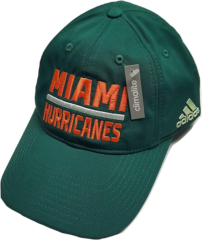 adidas Miami Hurricanes Adjustable Slouch Cap