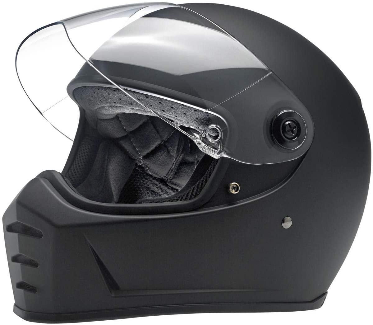 Biltwell Unisex-Adult Full face Lane Splitter Helmet (Flat Black, Large)