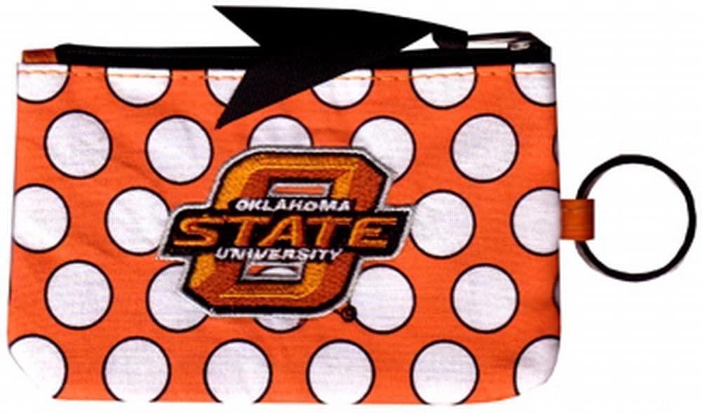 NCAA Oklahoma State Cowboys Keychain Coin Purse Divided