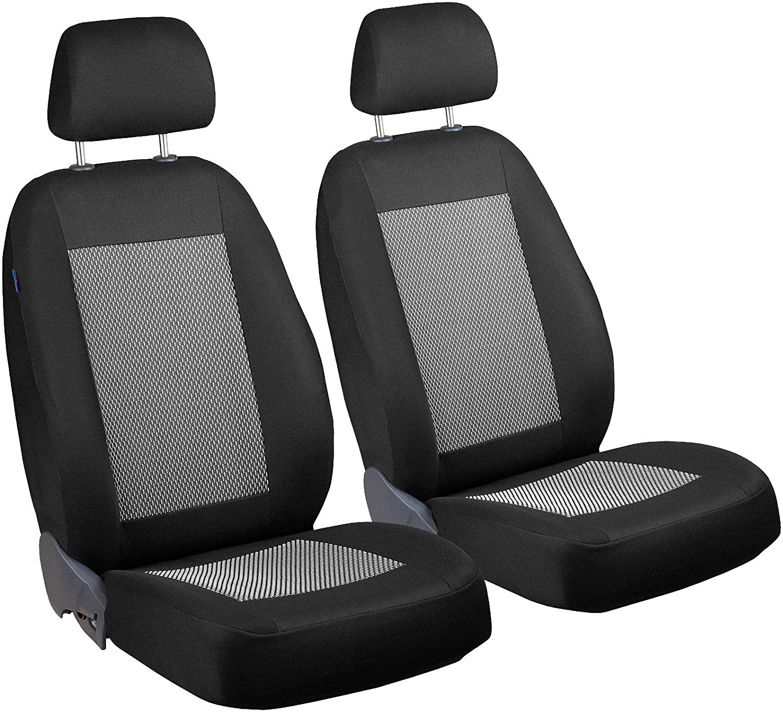 Zakschneider Car seat Covers for Veracruz - Front Seats - Color Premium Black with White Stripes