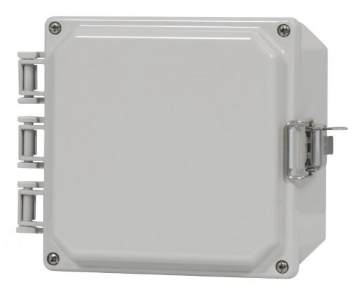 Polyguard 6x4x3-HOSB Polycarbonate Enclosure, Hinged Opaque Cover - Screw Close - Mounting Flanges
