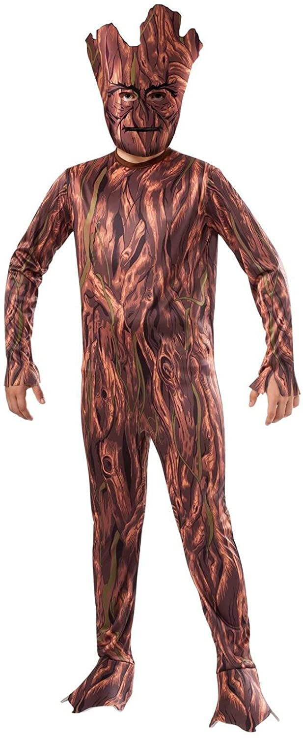 Rubie's Guradians of The Galaxy Groot Child Costume (Large 10-12) Brown