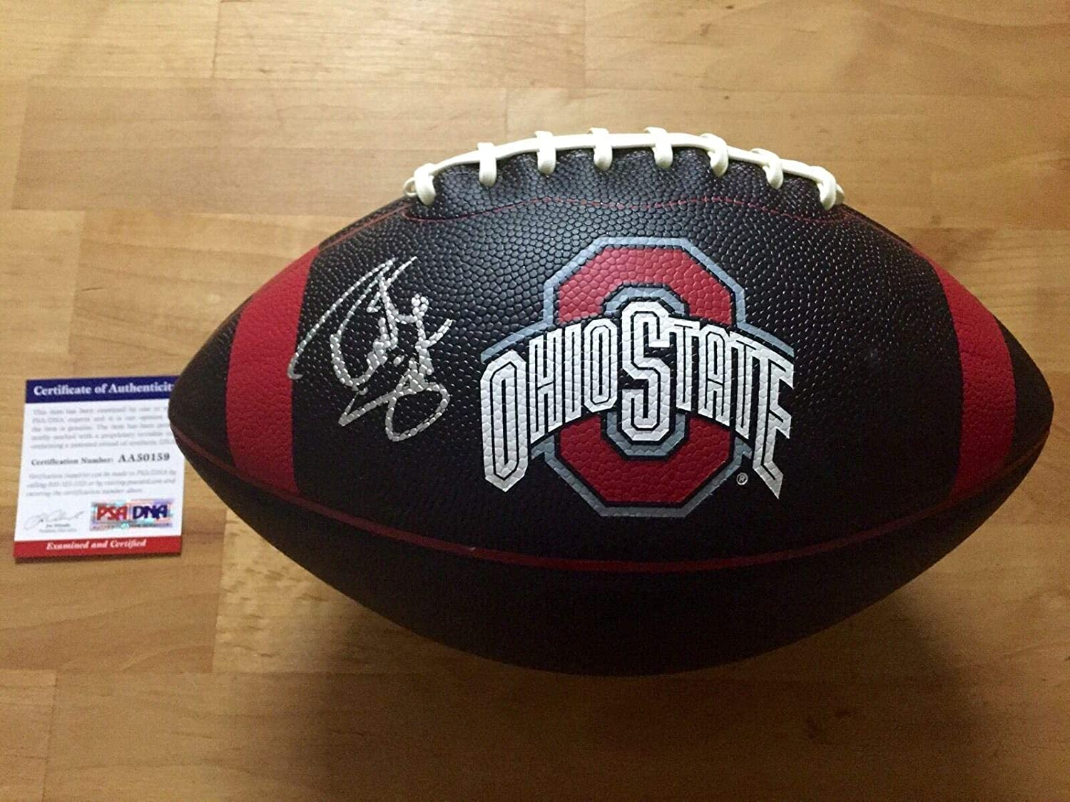 Robert Smith Signed Ohio State Buckeyes Black Logo Football Coa - PSA/DNA Certified - Autographed College Footballs
