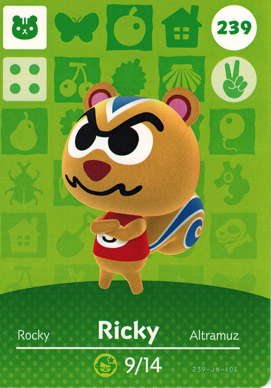 Nintendo Animal Crossing Happy Home Designer Amiibo Card Ricky 239/300 USA Version