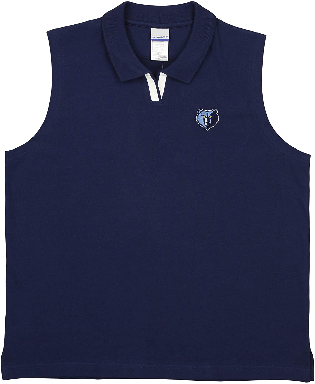 Reebok Women's NBA 4 Her Memphis Grizzlies Sleeveless Johnny Collar Polo Shirt, Navy