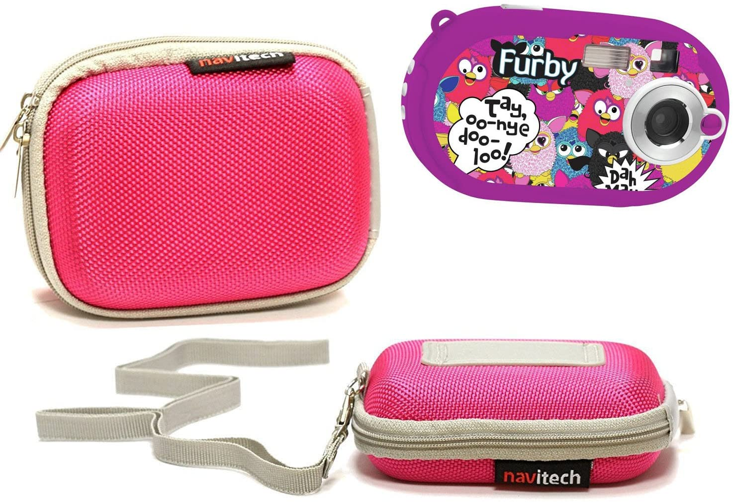 Navitech Pink Water Resistant Hard Camera Case Cover Compatible with The Furby 5MP Digital Camera