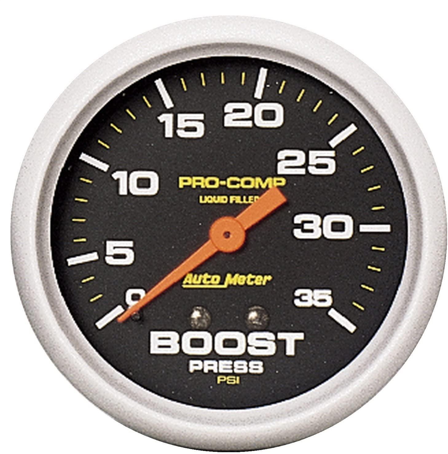 Auto Meter 5404 Pro-Comp Liquid-Filled Mechanical Boost Gauge