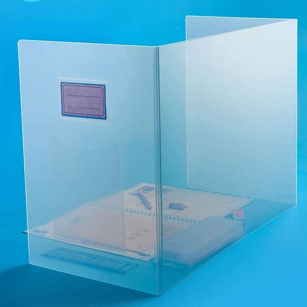 HMDJW Multifunctional Translucent Protection Plate Baffle, Splash-Proof Baffle Divider, Student Desk Dining Table Baffle Divider Cashier Receptionist Beautician Pharmacy Clinic Any Place
