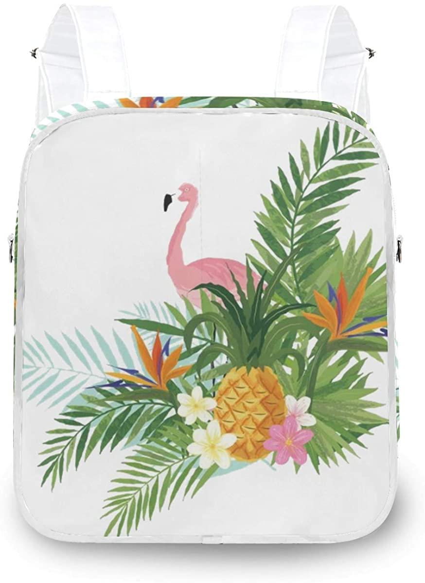 Women's Convertible Backpack Flamingo Pineapple Flowers Tote Bag Backpack for Girls Ladies