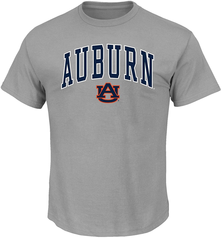 NCAA Texas A&M Aggies Mens AuburnUniversity Men's Big and Tall Short Sleeve Cotton Tee Shirt, Heathergrey, 4XLT