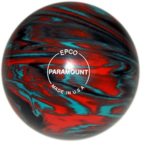EPCO Paramount Marbleized Candlepin Bowling Ball - Teal, Orange & Black - 4 Ball Set …