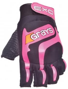 GRAYS Exo Hockey Glove, Black/Pink, M by Grays