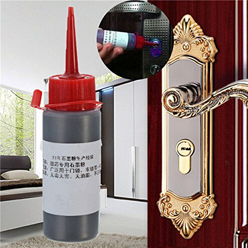 Pink Lizard Graphite Powder For Latches Hinges Sliding Surface Lock Lubricant For Interior Door Lock