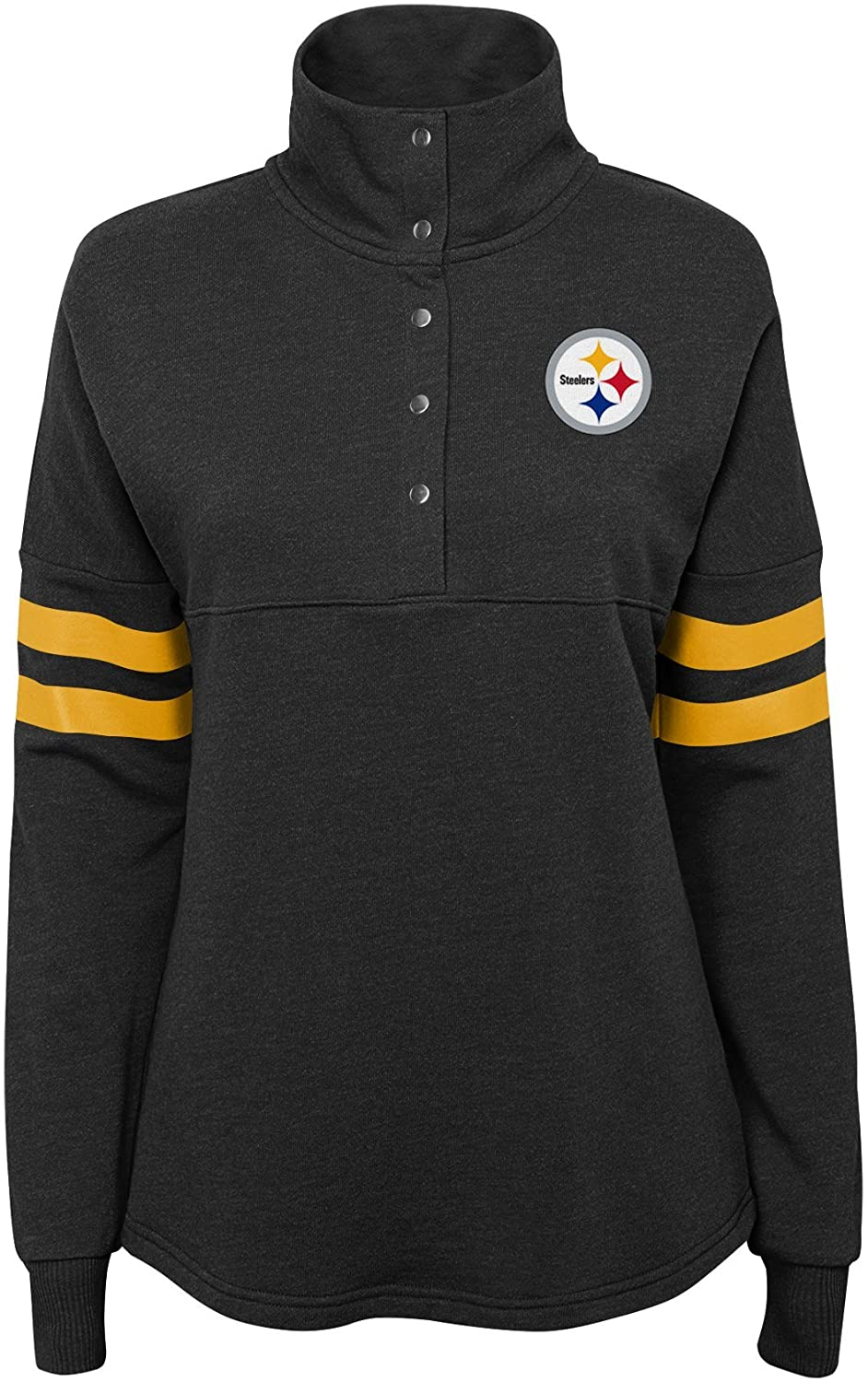 Outerstuff NFL Womens Juniors Classic Throw Varsity 1/4 Snap Pullover Top
