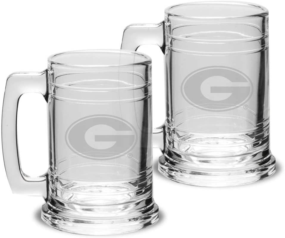 University Glass NCAA Unisex Collegiate 15 oz Colonial Tankard - Set of 2
