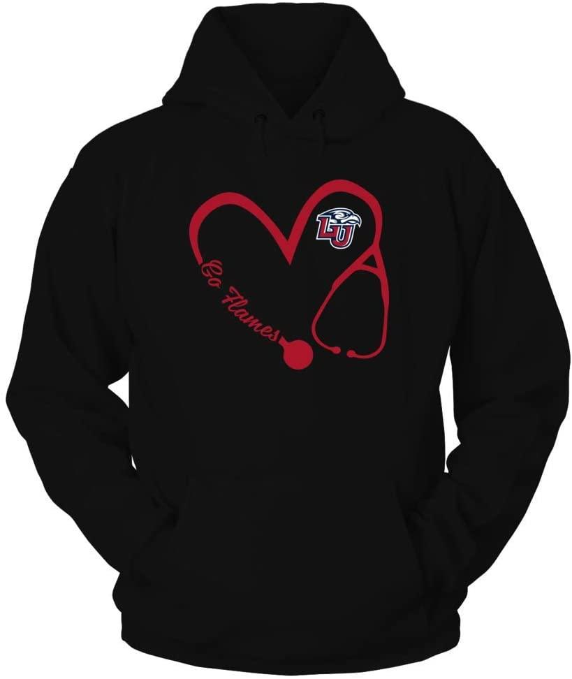 FanPrint Liberty Flames Hoodie - Heart 3-4 - Nurse - If-Ic17-Ds45