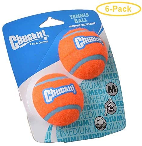 Chuckit! Multicolored Ball Launcher Rubber Tennis Balls Medium