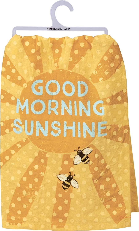 Primitives by Kathy Dish Towel Good Morning Sunshine
