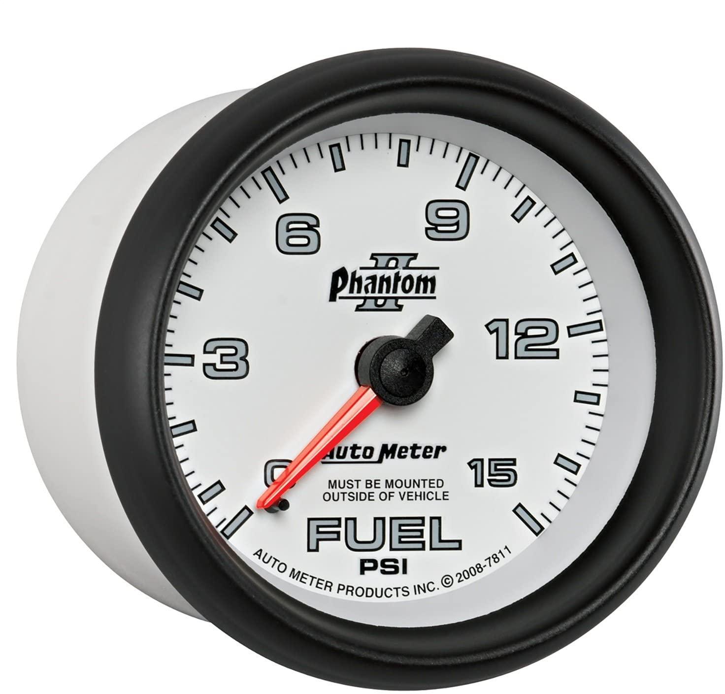 Auto Meter 7811 Phantom II Mechanical Fuel Pressure Gauge