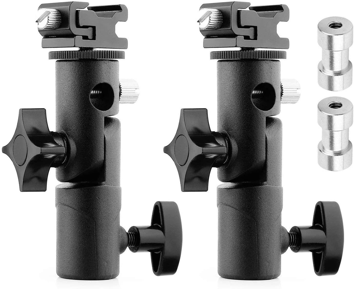 CHUN-Accessory - Top Deals 2Pack Camera Flash Speedlite Mount Swivel Light Stand Bracket with Umbrella Reflector Holder for Camera DSLR N-ikon