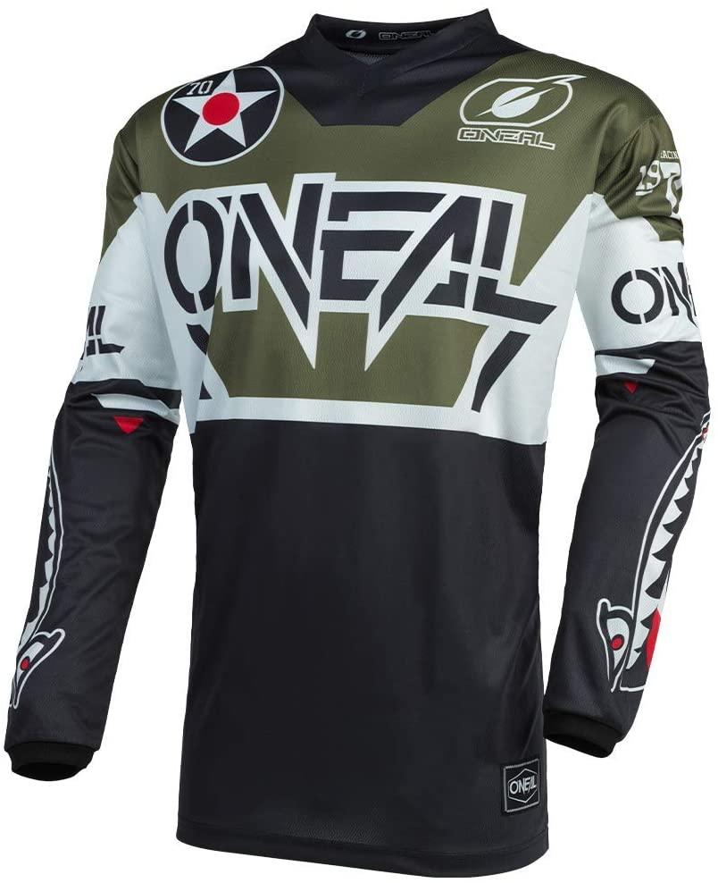 O'Neal Element Jersey Warhawk Men's (Black/White/Green, L)