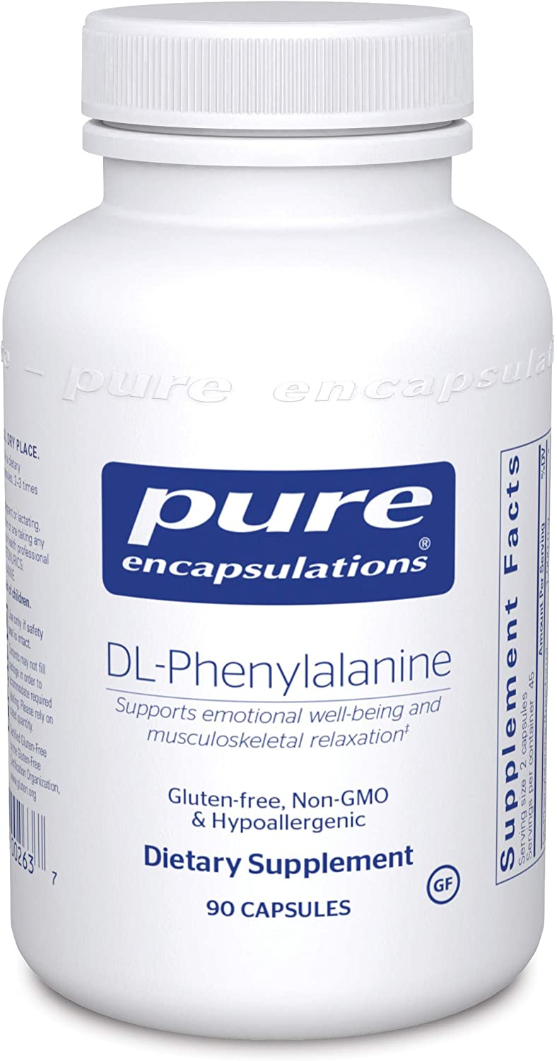 Pure Encapsulations - DL-Phenylalanine - Supports Emotional Well-Being and Musculoskeletal Relaxation - 90 Capsules