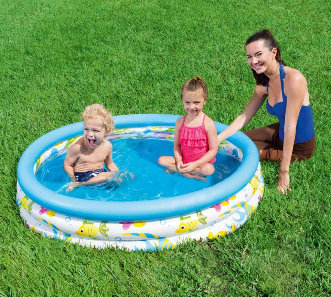 Generies Baby Portable Inflatable Swimming Pool Outdoor Children Basin Bathtub Collapsible Kids Pool Baby Swimming Pool Play Water Outdoors