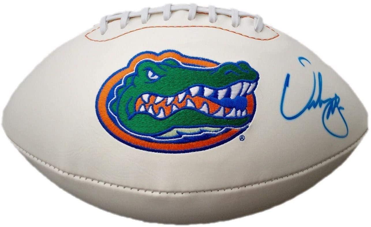 Urban Meyer Florida Gators Signed Logo Football - JSA Certified - Autographed College Footballs