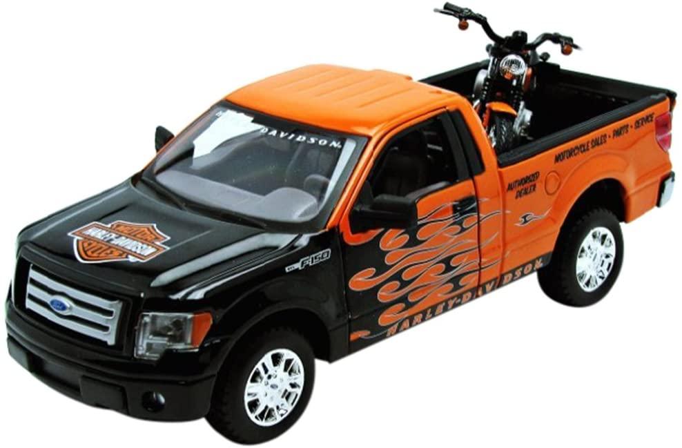 1:24 H-D 2007 XL 1200N Nightster + 1:24 Ford F-150 STX by Maisto