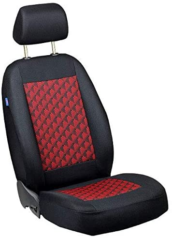 Zakschneider Car seat Cover for 155 - Driver Seat - Color Premium Black with Red 3D Effect