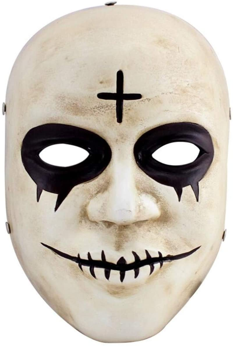 meg 383 Human Smiling Face Mask Cosplay Halloween Mask Collection Pure Handmade Man Helmet Movie Theme of Human Clear Plan Plus Mask