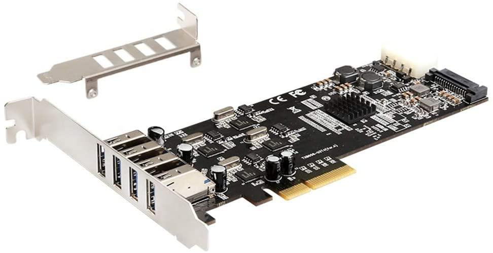 MEO 20G PCI-e to 4 Port USB Expansion Card PCI-e USB Adaptor Card (TXB058)