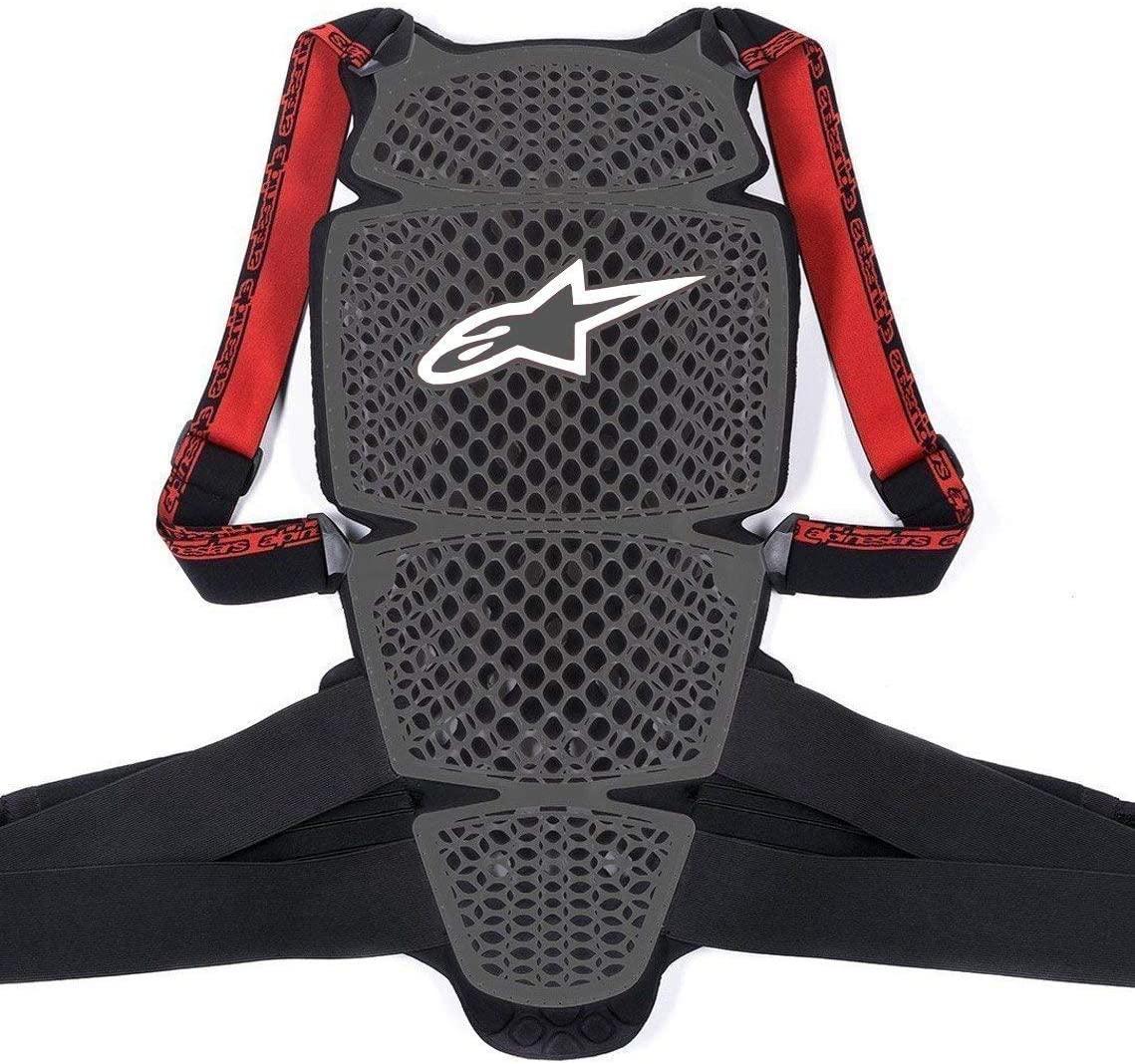 Alpinestars Men's Nucleon KR-Cell Motorcycle Back Protector, Smoke Black/Red, Medium