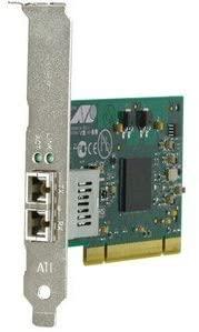 Allied Telesis AT-2916SX Fiber Network Interface Card. NIC 1000SX/LC PCI 2.2 ROHS LP & STD PHASE OUT FIBER. PCI - 1 x LC - 1000Base-SX - Internal