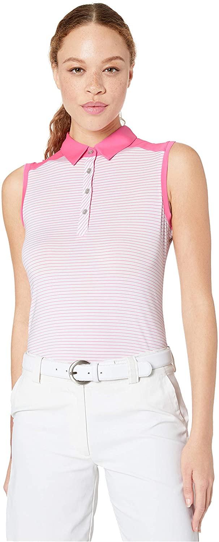 Cutter & Buck Women's Moisture Wicking UPF 50+ Sleeveless Lauren Stripe Polo Shirt
