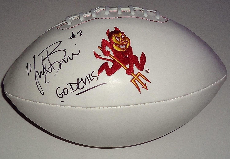Mike Bercovici signed Arizona State Sun Devils logo football w/coa - Autographed College Footballs