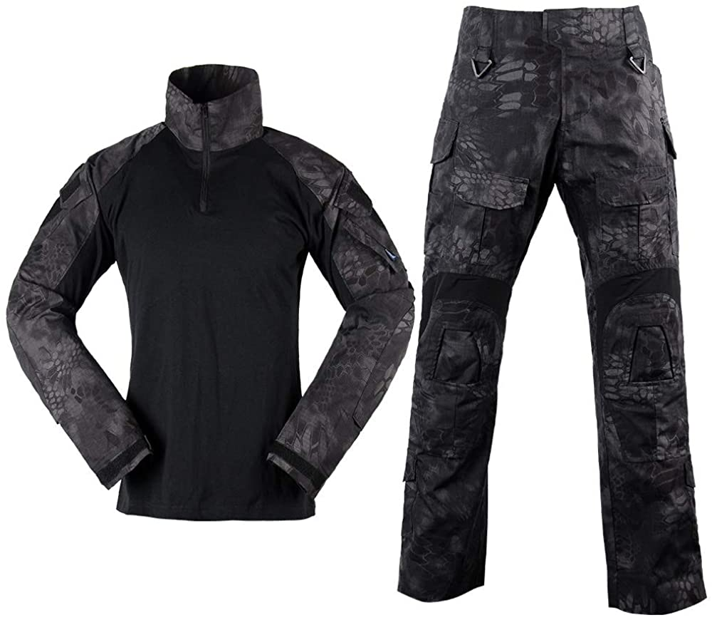 Men Army Combat Uniform G3 Pants and Shirt Military Painball Gear Long Sleeve Camo Airsoft Tactical Apparel Suit