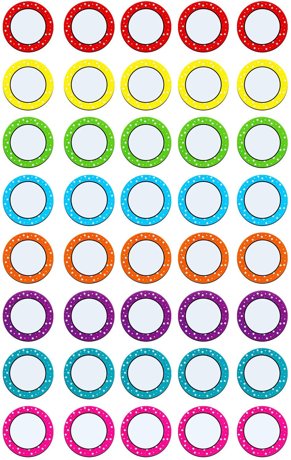40 Pieces 2 Inch Numbers Magnetic Accents Round Whiteboard Magnets Colorful Fridge Magnets for School Office Home Supplies (Color Set 1)