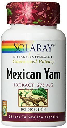 Solaray Mexican Yam Root Extract Supplement, 275mg, 60 Count by Solaray