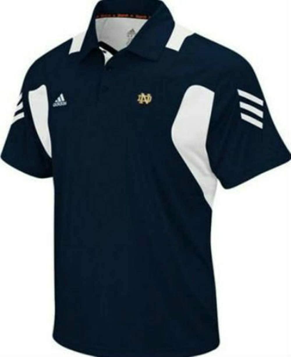 NCAA Team Apparel Notre Dame Fighting Irish Men's Size Medium Performance Scorch Polo Shirt Navy Blue