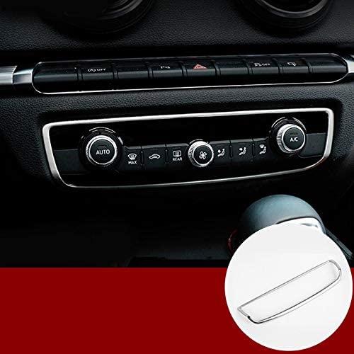 wroadavee Interior Certer Console Air Conditioner Switch Frame Cover Trim for Audi A3 S3 2014-2018
