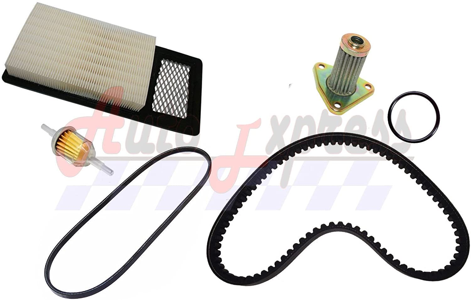 Auto Express Golf Cart Tune Up Kit for EZGO TXT Medalist 1994-2004, 4 Cycle Drive, Starter Belts & Air, Oil Fuel Filters