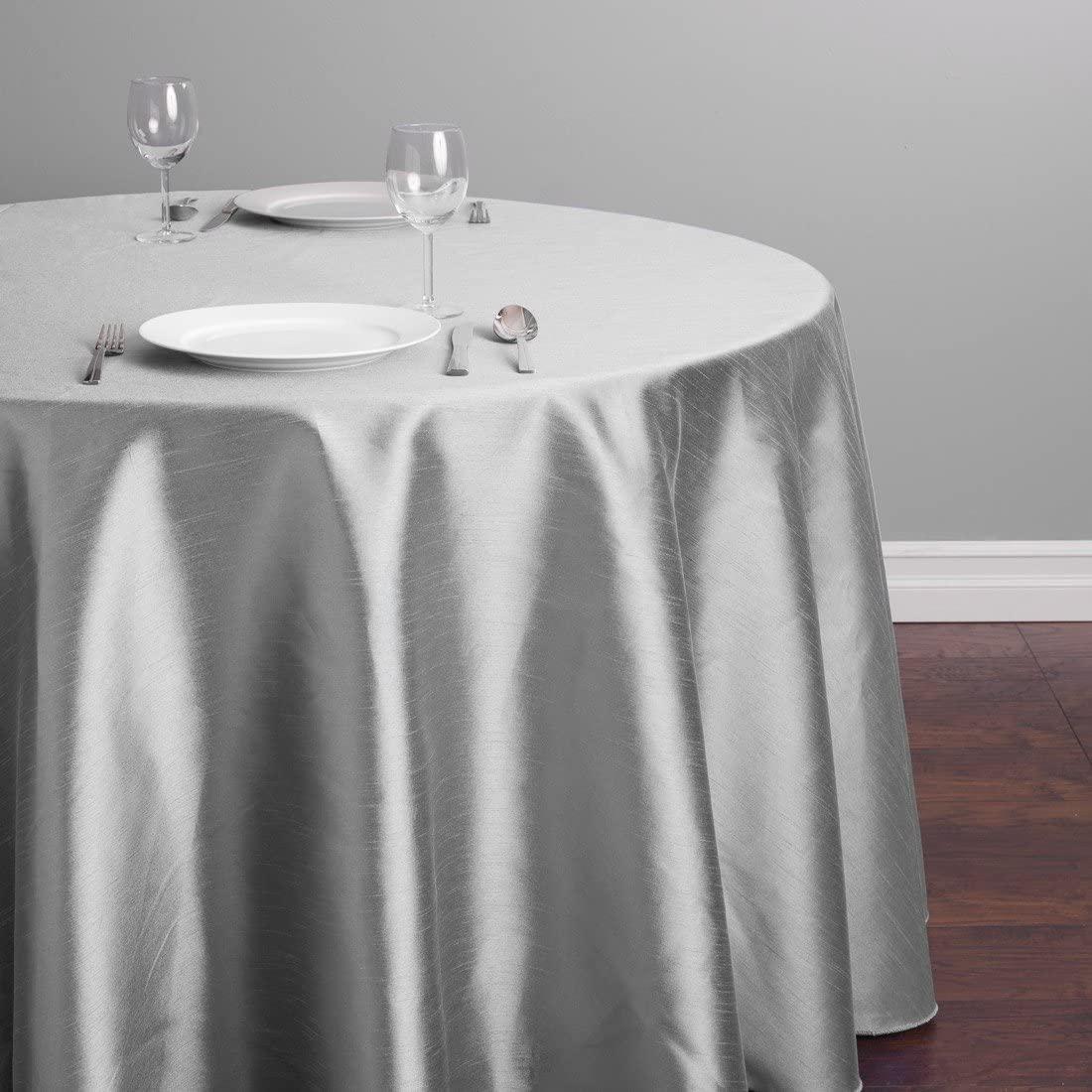LinenTablecloth Round Shantung Silk Tablecloth, 108