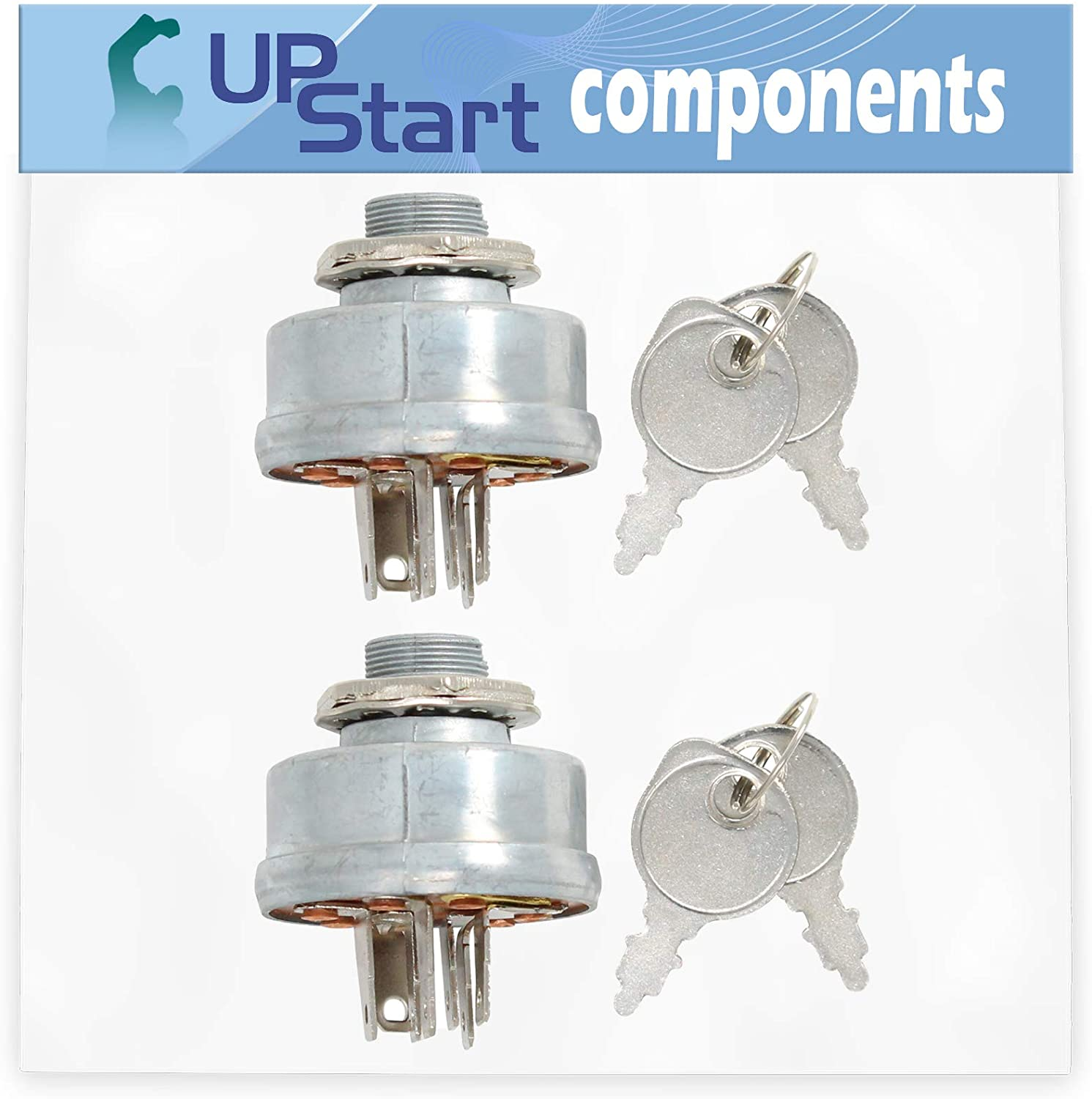 UpStart Components 2-Pack 140301 Ignition Switch Replacement for AYP 8228B89 - Compatible with 532140301 Starter Key Switch