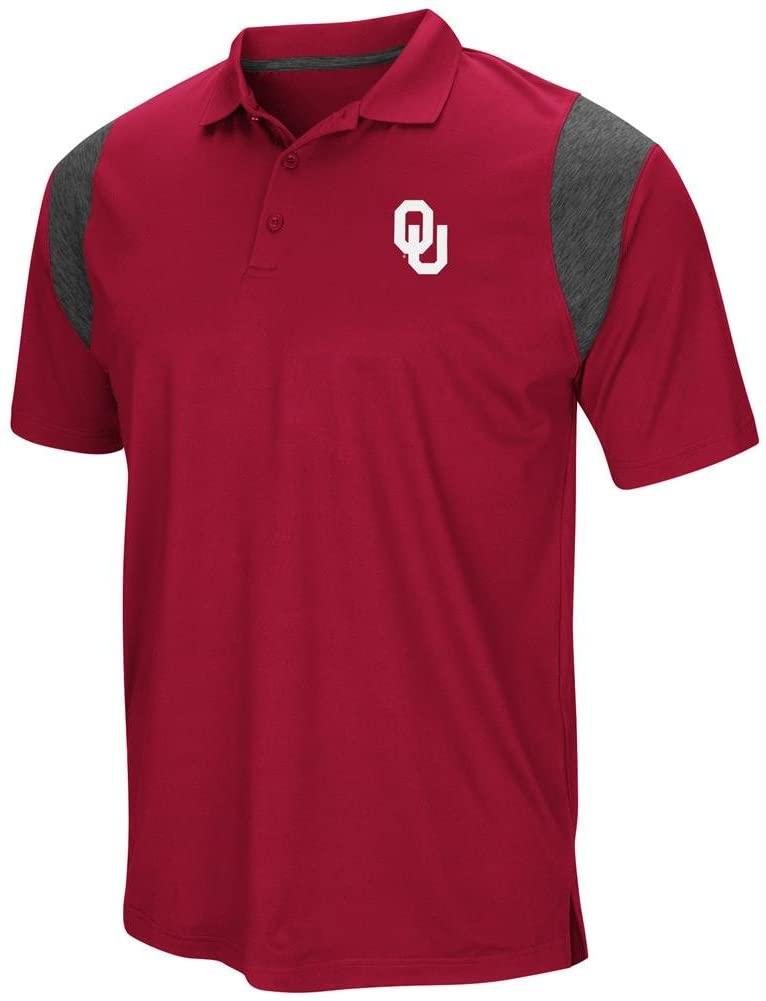 Colosseum Oklahoma Sooners Mens Crimson Friend Polo Shirt